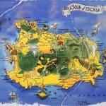 Mappa dell'isola d'Ischia